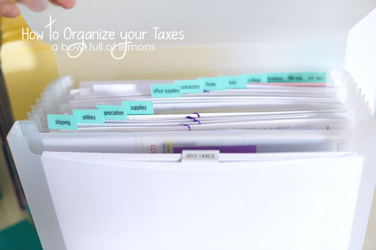 How to organize your business & taxes, the easy way. - A Bowl Full of Lemons