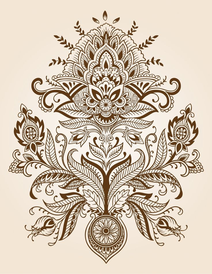 paisley designs | Paisley henna tattoo design background?