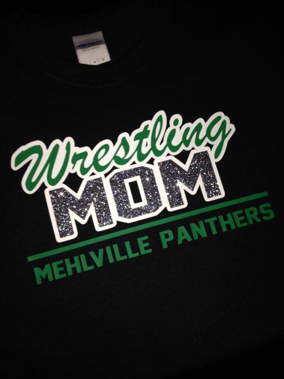Wrestling Mom Short Sleeve T-Shirt by Bling1816 on Etsy