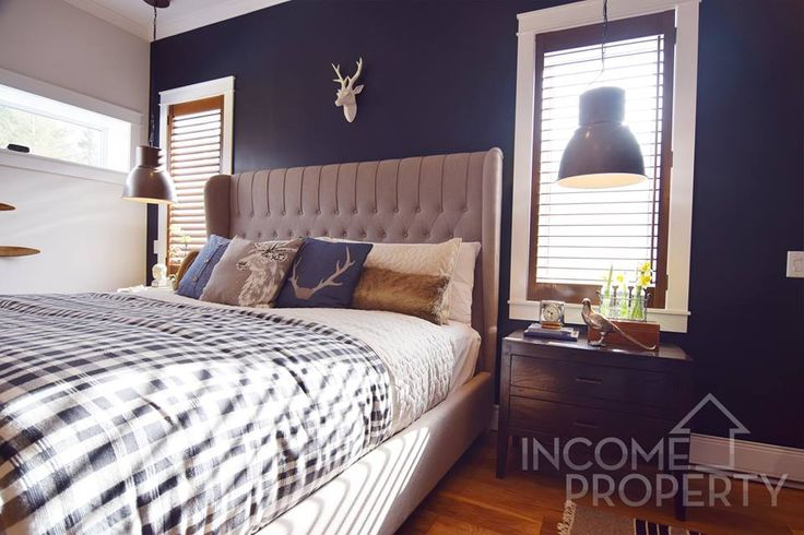 """#ParaPaints """"Potion"""" (P5159-85D) looks absolutely magical on Dan & Matt's accent wall - as seen on Income Property on @HGTV"""