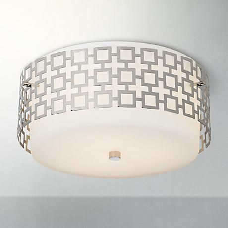 "PLACE HOLDER, DO NOT ORDER, Jonathan Adler Parker 15 1/4"" Wide Nickel Ceiling Light"