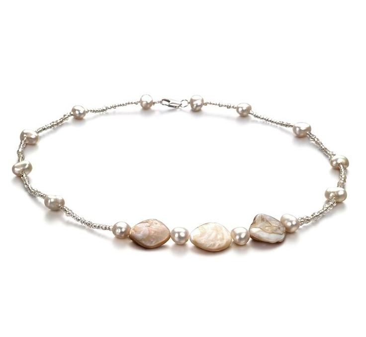 Anika Halskette - Weiß A 2.5-3mm Süßwasser