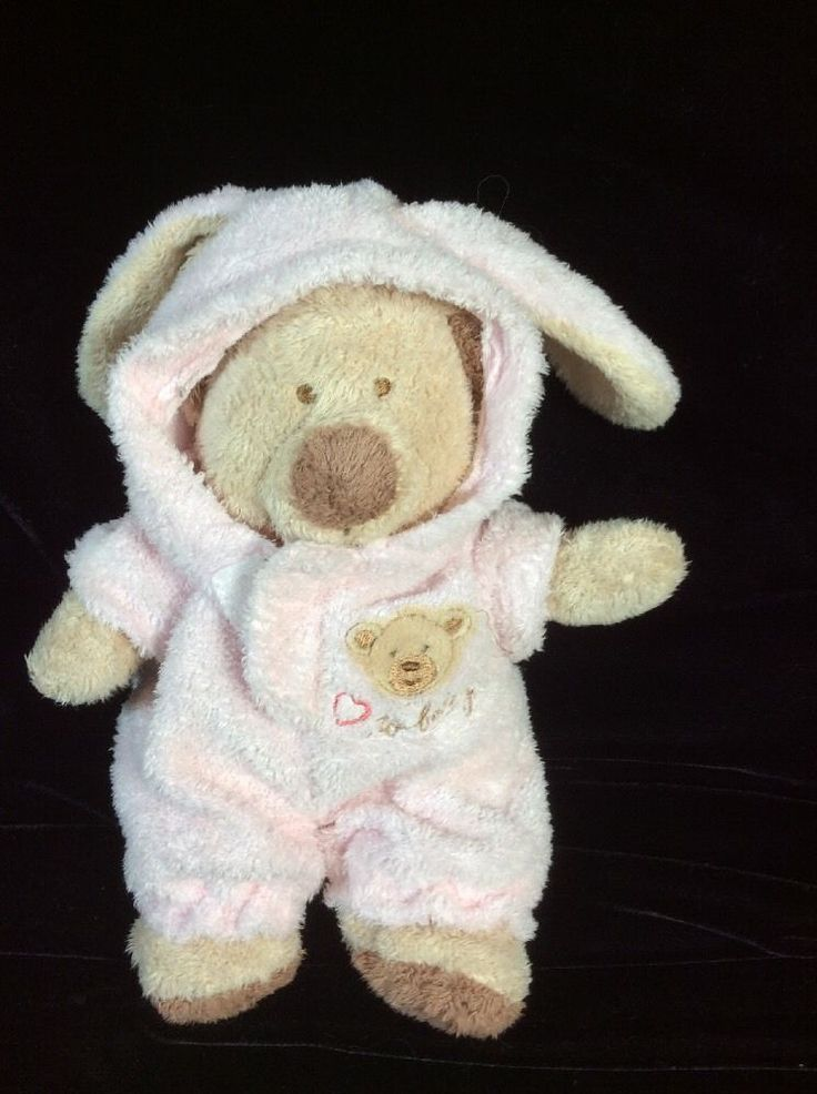 Ty Love To Baby Bear Bunny Removable Pjs Plush Lovey Soft