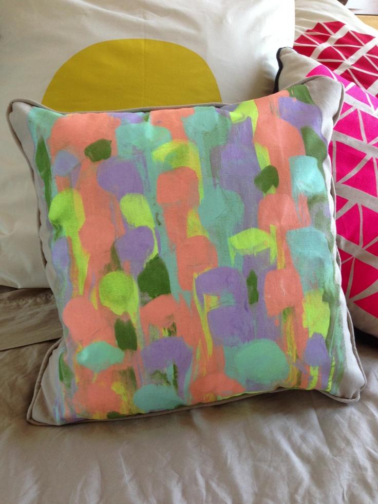 My beautiful handmade cushion. So happy! by Kirby