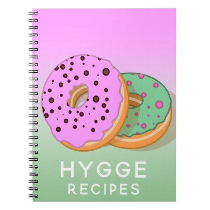 #Hygge donuts recipes notebook in pink and mint - #office #gifts #giftideas #business