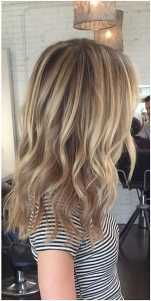 In love with this blonde color also and would be perfect for my hair which is a natural dark blonde anyway. The cut is similar to mine but this is longer; can't wait til mine grows out to about this length! ❤️