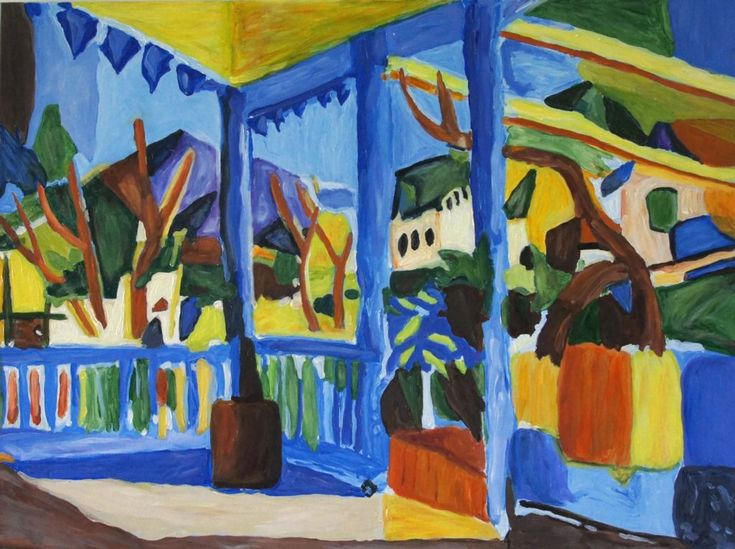 Terrace at St Germain, after Macke