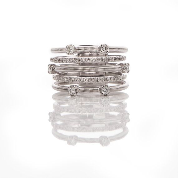Gorgeous 18kt White Gold Quintuple Series by DanelianJewelry