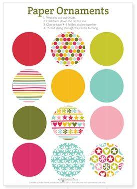 2013 Christmas Printables -paper decorations to print and make