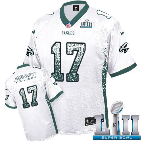 90dea3b3ba6 Nike Eagles  17 Alshon Jeffery White Super Bowl LII Men s Stitched NFL Elite  Drift Fashion