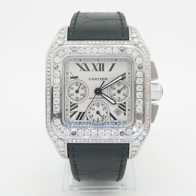 Cartier Santos 100 Mens diamond Watch swiss luxury wrist watch - http://menswomenswatches.com/cartier-santos-100-mens-diamond-watch-swiss-luxury-wrist-watch/ COMMENT.