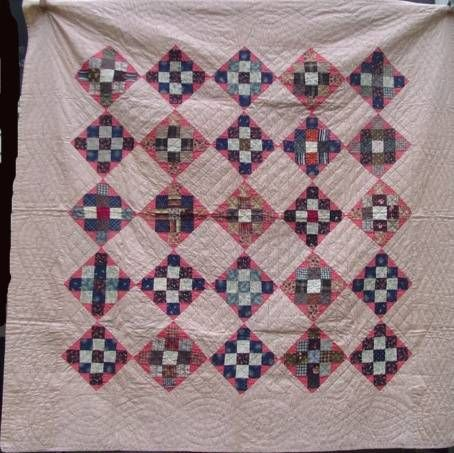 Nine Patch Variation Quilt at www.antiquequilts.com/catalog3.htm