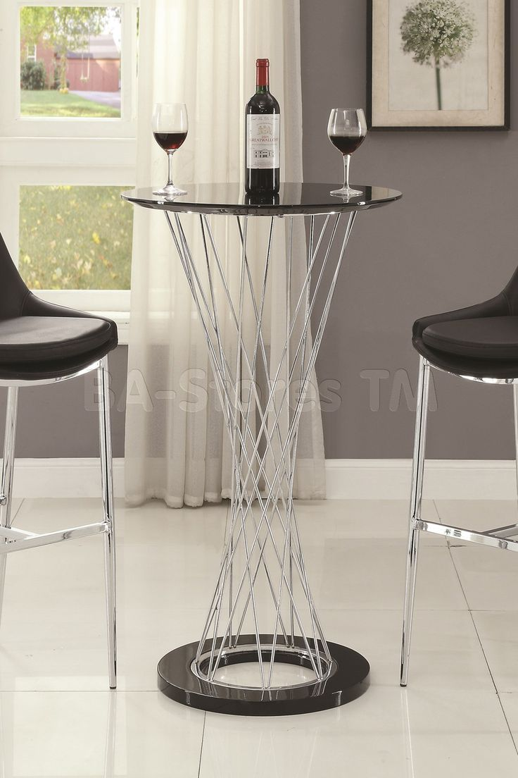 best  contemporary bar tables ideas on pinterest  contemporary  - contemporary bar table with round top