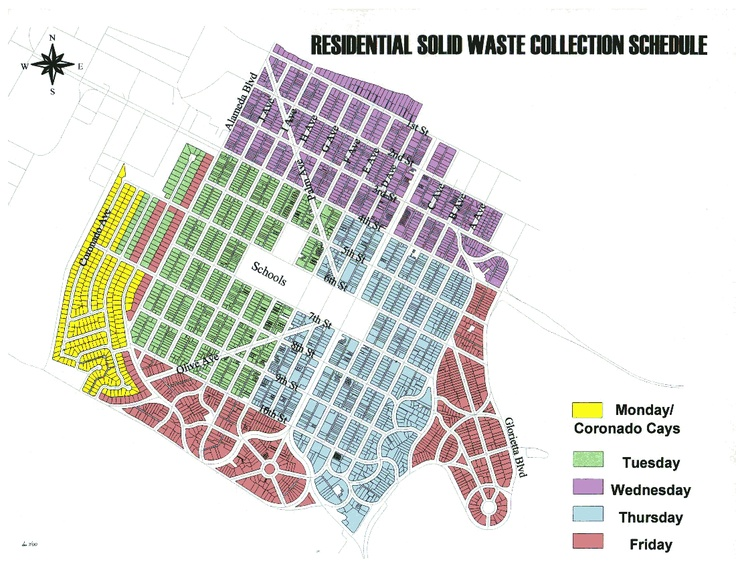 Residential Trash Pick-Up schedule