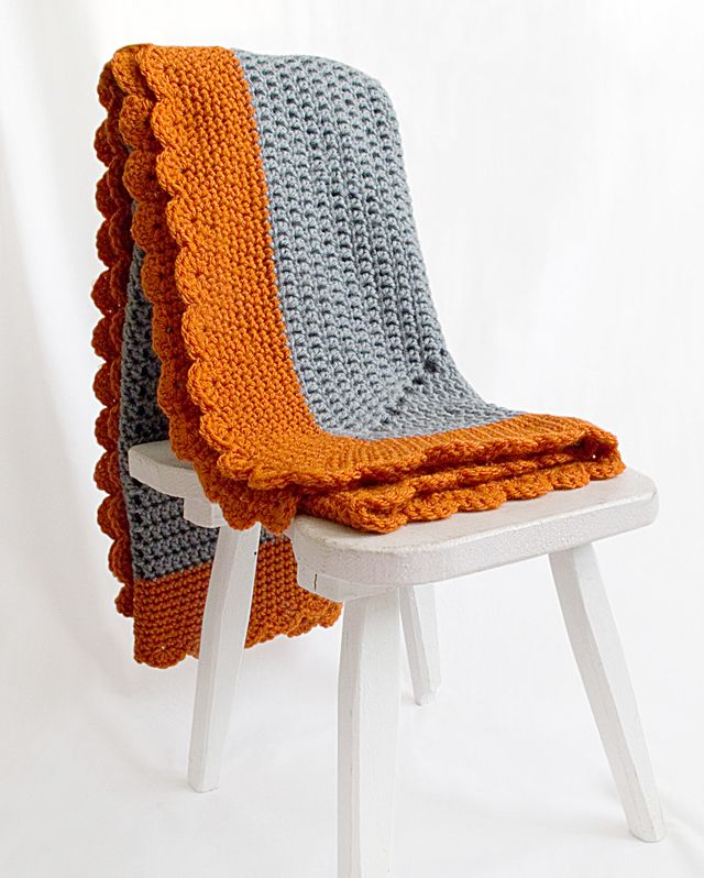Starburst Baby Blanket On Chair