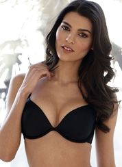 Atomic Liquid Filled Plunge Gel Bra - black