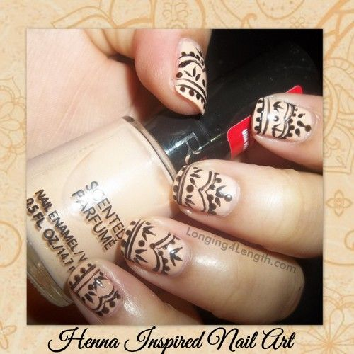 Henna Inspired Nail Art Tutorial