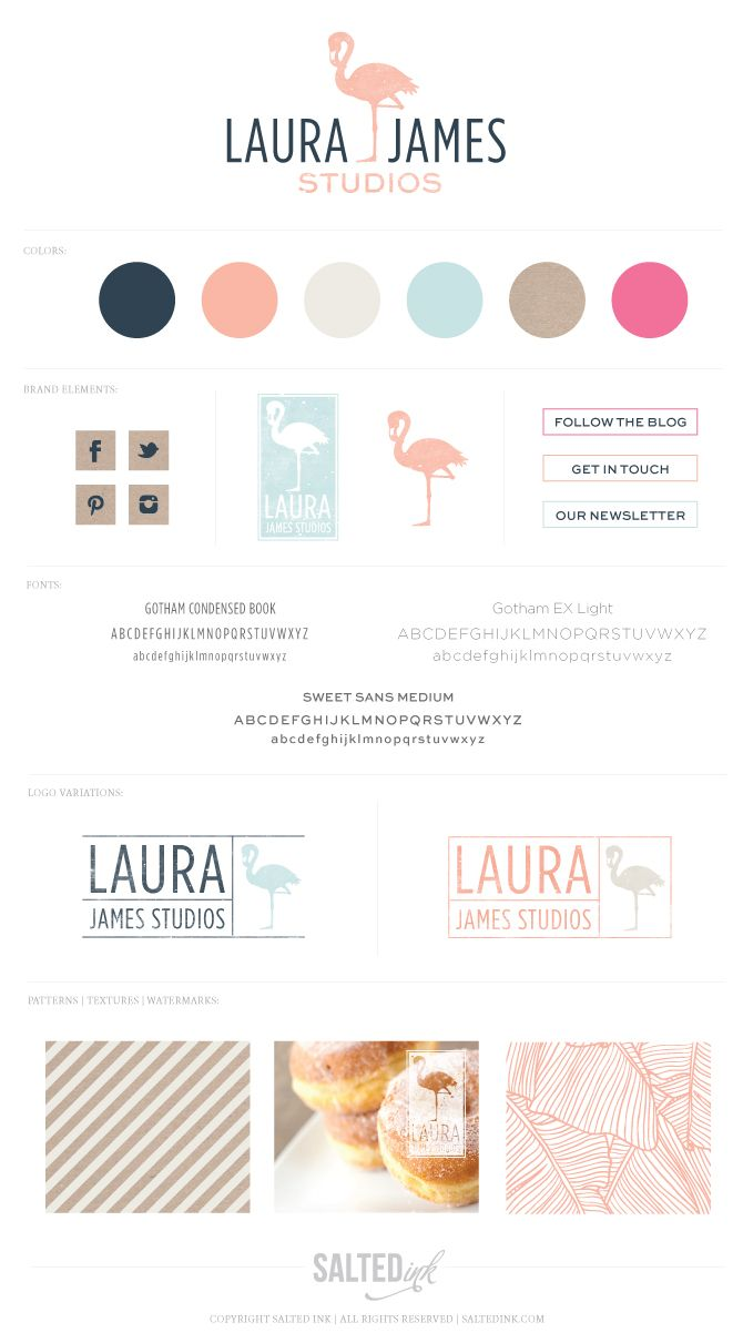 Laura James Studios | New brand designed by Salted Ink Digital Design Co. | www.saltedink.com #brand #branding #logo #design