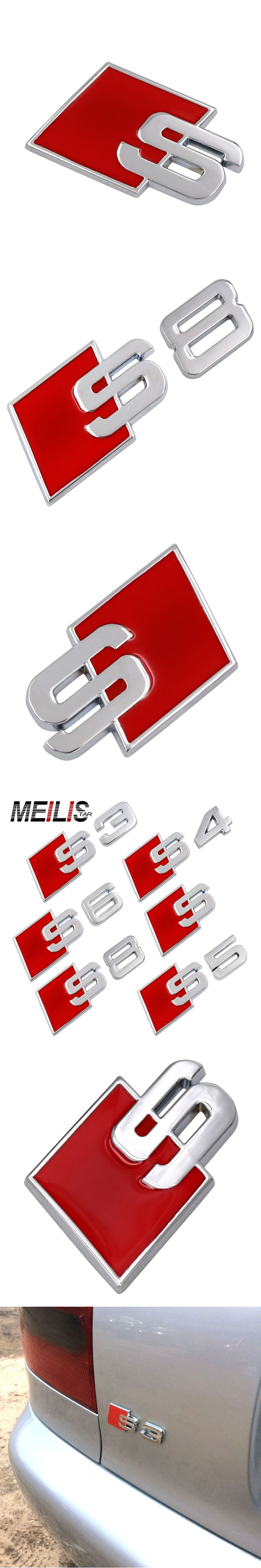 S LINE S3 S4 S5 S6 S8 logo Emblem Badge metal auto tail 3D stickers For AUDI A1 A3 A4 A5 A6 A7 A8 Q3 Q5 Q7 R8 TT RS car-styling