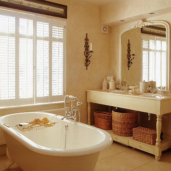 Classic neutral bathroom.