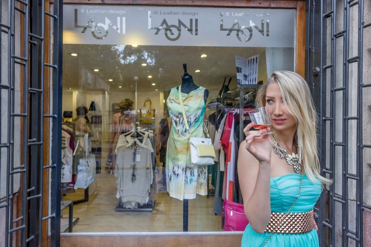 Window-shopping with rose wine at Laoni la Store  http://www.budapestwithus.hu/laoni-fiesta/