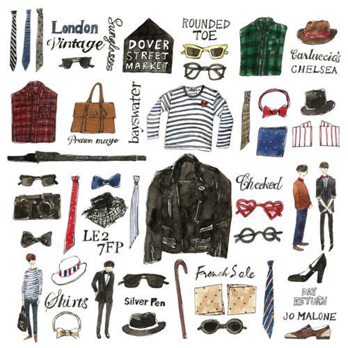 illustration by Vita Yang. Sign me up for a British man!!