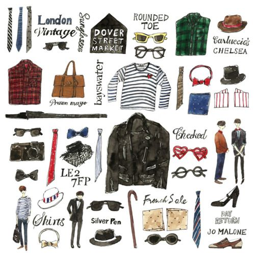 illustration by Vita Yang. Sign me up for a British man!!