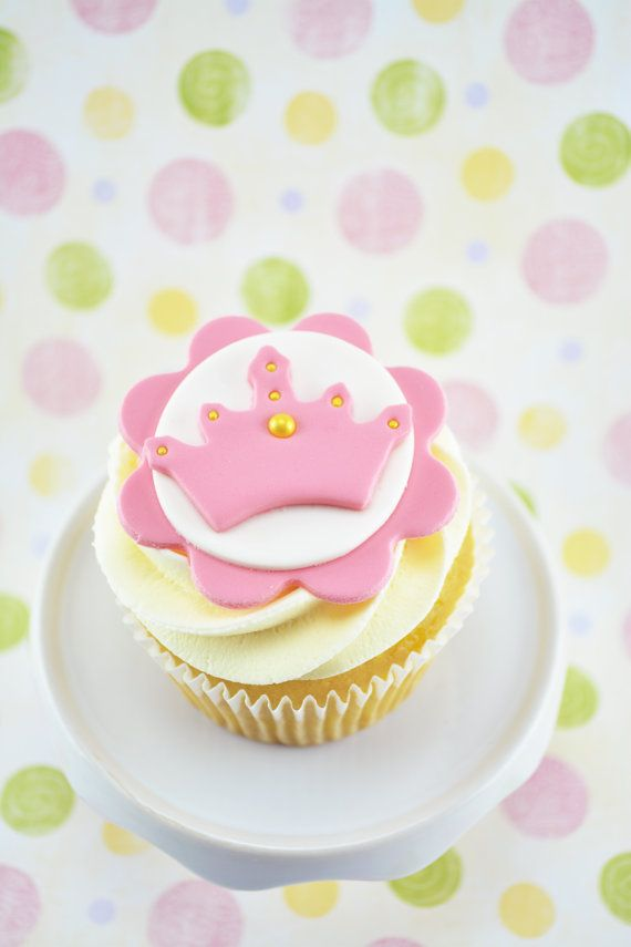 Fondant Princess Cupcake Toppers for Princess Birthday Party/Princess Baby shower on Etsy, $22.78