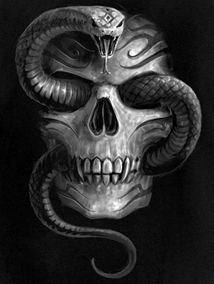 Serpiente by calavera dark visions en 2019 cr neos y - Skull wallpaper iphone 6 ...
