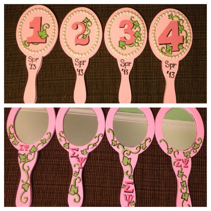 AKA line hand mirrors.... Love the idea; TOTALLY MAKING THESE FOR THE NEXT LINE