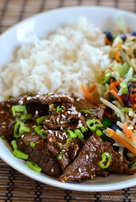 Slimming Eats Teriyaki Beef - gluten free, dairy free, Paleo, Slimming World (SP) and Weight Watchers friendly