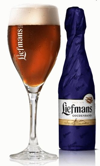 Liefmans Goudenband: A classic Flanders brown ale, within the blue paper wrapped bottle resides a complex malty, fruity ale with a pronounced lactic acid tartness. It has a dark brown, almost burgundy color with a nice white head produced by its ample carbonation.  The taste is tart and dry with complex malty undertones with pleasant hints of yeast and oxidation(positive in this case), little to no hop character. Pair with a nice full flavored camerbert or a fine piece of dark chocolate