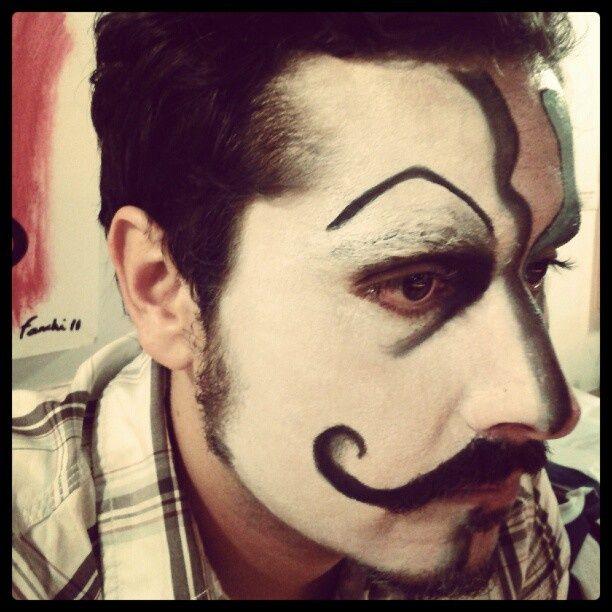maquillaje fantasa para hombres