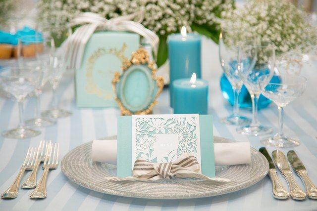 結婚式場写真「ティファニーブルーのコーディネートは爽やかでかわいらしさのある、人気のコーディネートです♪」 【みんなのウェディング】