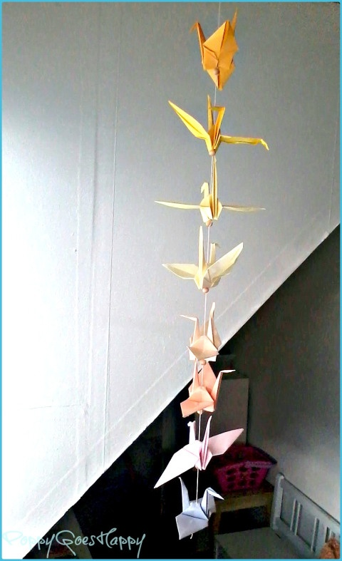 ombre origami cranes