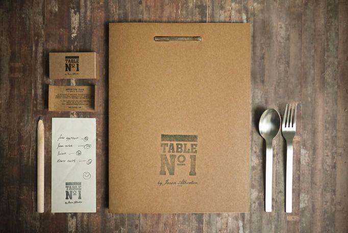 neat menu design via art of the menu: Menu Design, Kraft Paper, Idea, Tables Sets, Menudesign, Graphics Design, Foreign Polici, Branding Identity, Restaurant Branding
