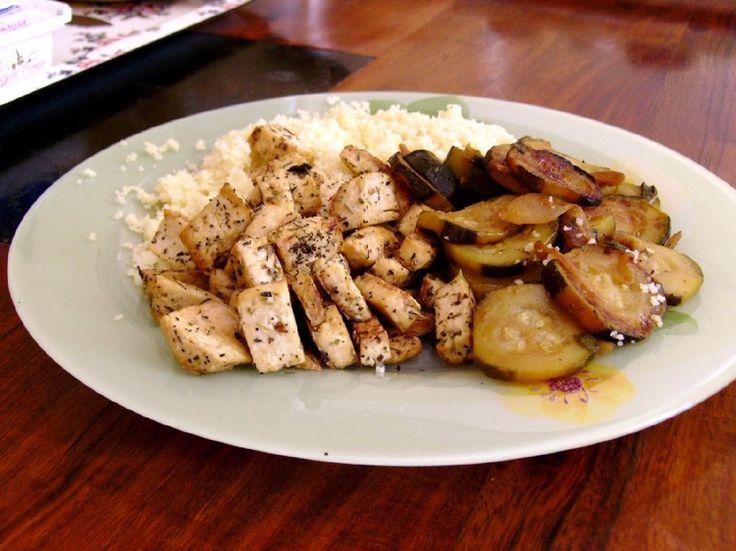 Couscous de tofu et ses courgettes à la menthe