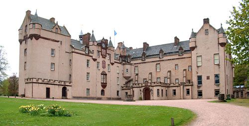 Visit Scotland and see Fyvie Castle (Gordon Clan's ancestral castle).