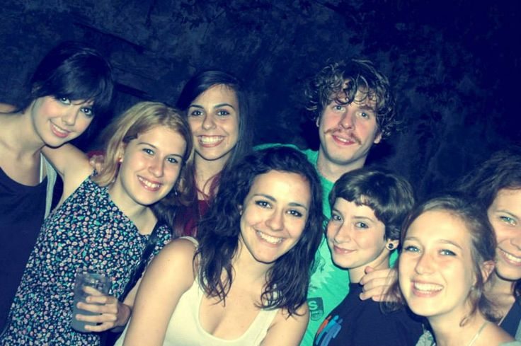 "my friends and the singer of ""Lo Stato Sociale"" *.*"
