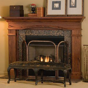 hawthorne 51in x 36in wood fireplace mantel surround