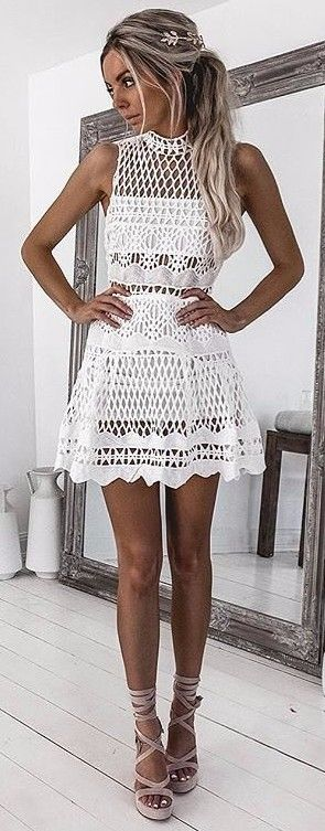 lacey perfection white summer dress