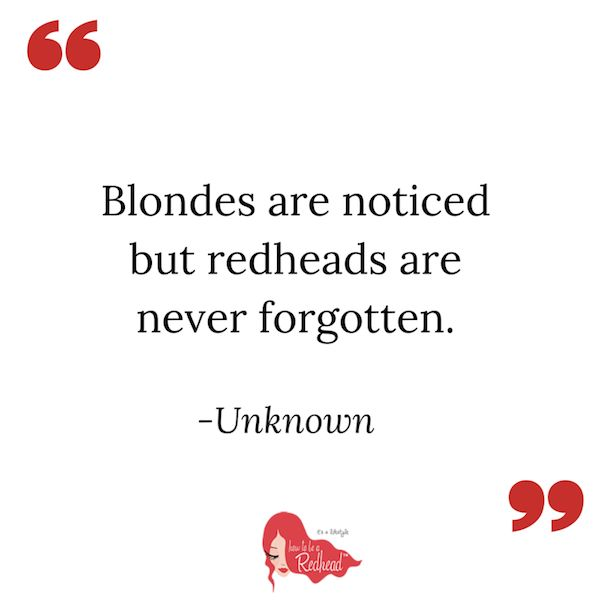 Redhead Quotes - Quotes about Red Hair - The Best Redhead Quotes Ever