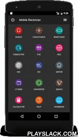 Mobile Electrician  Android App - playslack.com ,  This is a free version that contains advertising.You can buy Google Play the full version to support the developer and get rid of advertising banners.The app includes: Ohms law for DC.Ohms law for AC.L-C Resonance Calculator.Y-Δ Transformation.Electrical Energy Calculator.Current density.Basic transformer calculations.Connection of capacitors.Capacitive reactance.Run a 3 phase motor on a single phase.Capacitive Voltage Divider.Capacitor…