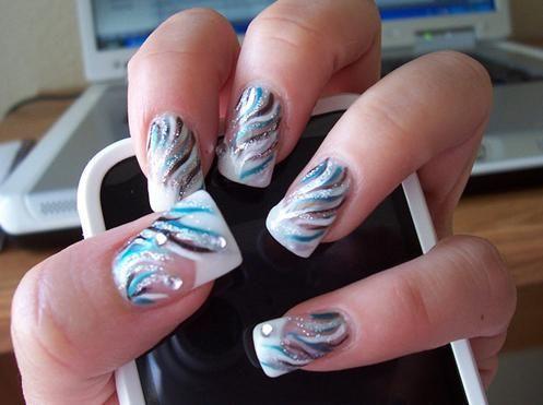 Short Acrylic Nail Designs Ideas | Nail Art... beautify your nails • Art Platter