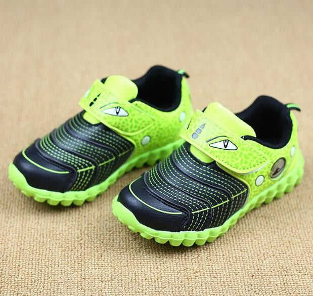 2016 new children shoes boys shoes fashion led light sneakers kids cute  cartoon sports shoes boys