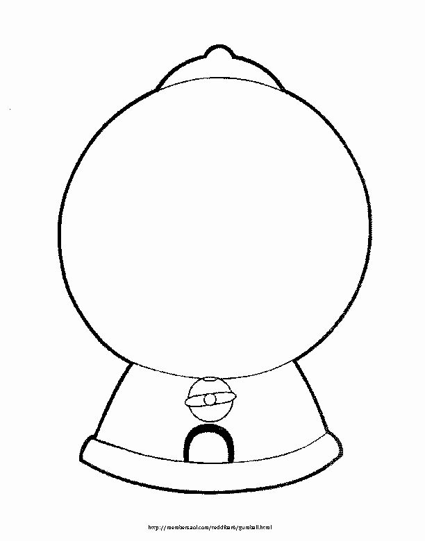 Gumball Machine Coloring Page Awesome Gumball Machine Free