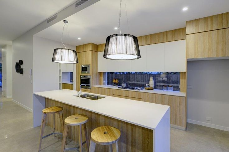 Wooden Cupboards, Timber Stools -  Kitchens Renovations Brisbane