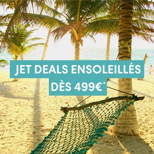 Les Jet deals Thomas Cook sont arrivés ! Réservez-vite votre place au soleil dès 499 € parmi notre sélection d'évasions en terre ensoleillée. Chez Thomas Cook voyage pas cher ne signifie jamais vacances au rabais !