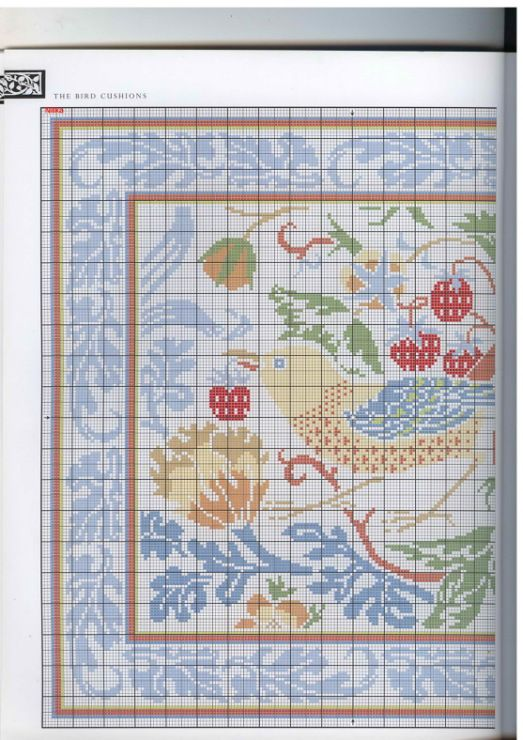 Gallery.ru / Фото #6 - Barbara Hammet - The art of William Morris in cross stitch - risau