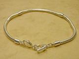 Modulperlen-Armband 21,5cm / European Beads SILBER... 3,50€